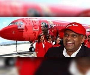 Tony Fernandes bought AirAsia for one ringgit in 2001  On 2 December 2001 the heavily-indebted airline was bought by former Time Warner executive Tony Fernandes's company Tune Air Sdn Bhd for the token sum of one ringgit (about USD 0.26 at the time) with USD 11 million (MYR 40 million) worth of debts.  Fernandes turned the company around, producing a profit in 2002 and launching new routes from its hub in Kuala Lumpur.