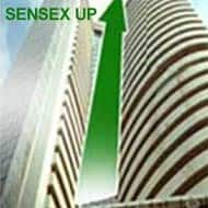 Sensex gains over 200 pts; Tata Steel, Jindal Steel up 8%