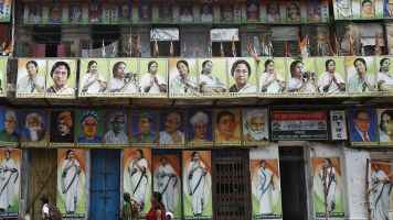 Caption this picture: Mamata Didi everywhere!