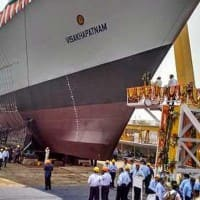 Navy's new destroyer INS Visakhapatnam launched in Mumbai