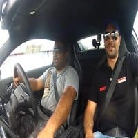 Watch supercar owner with rallying champion on race track