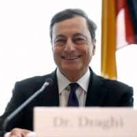 ECB will do its part for euro zone recovery, Draghi tells IMF