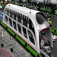 Futuristic 'straddling bus' to drive over cars in China