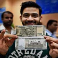 Foreigners can change forex for Indian currency up to Rs 5k