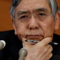 Chance of more rate cuts small for now, growth picking up:Kuroda
