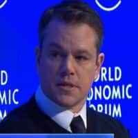 Watch Matt Damon speak about his passion to solve water crisis